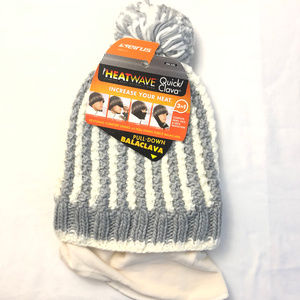 Seirus Quick Clava Beanie Hat Balaclava Striped